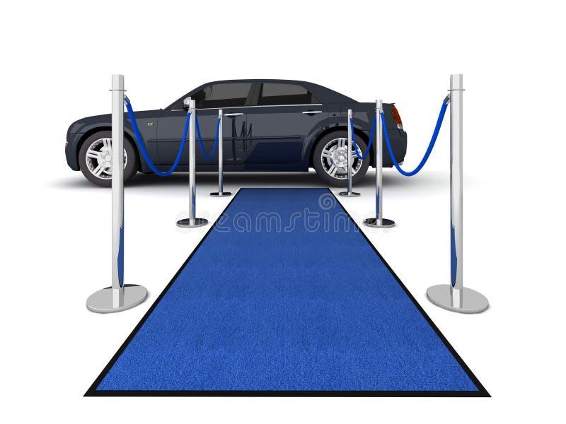VIP de illustratie van de tapijtlimousine stock illustratie