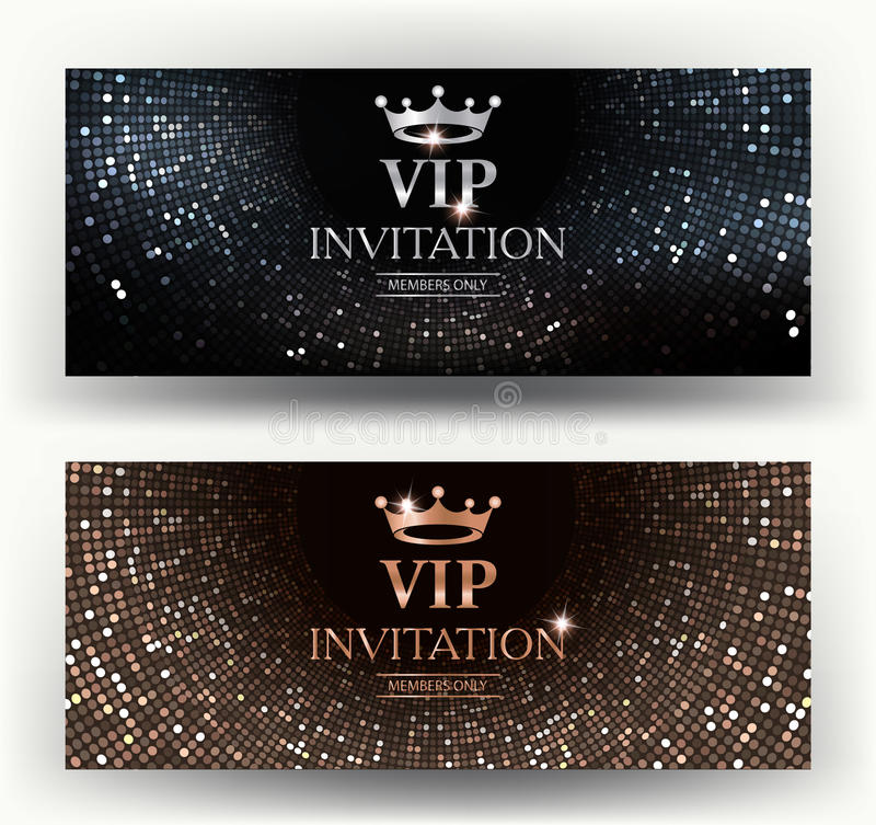 Vip elegant invitation cards with abstract background stock vector download vip elegant invitation cards with abstract background stock vector illustration of gift stopboris Choice Image