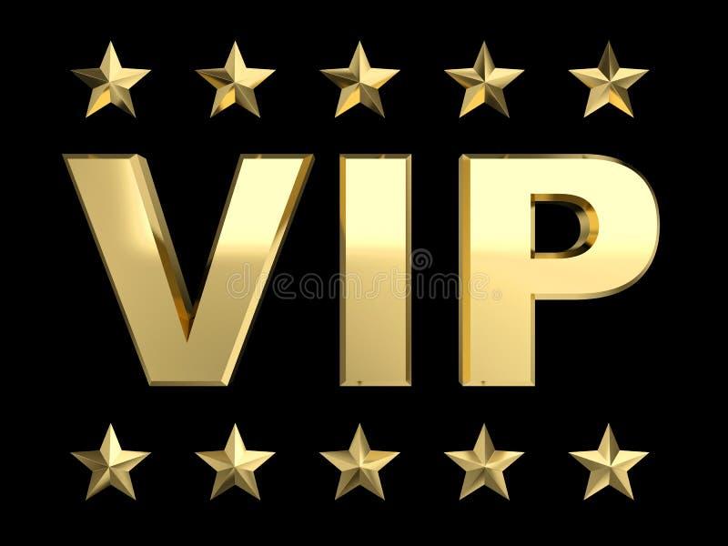 VIP et étoile d'or illustration libre de droits