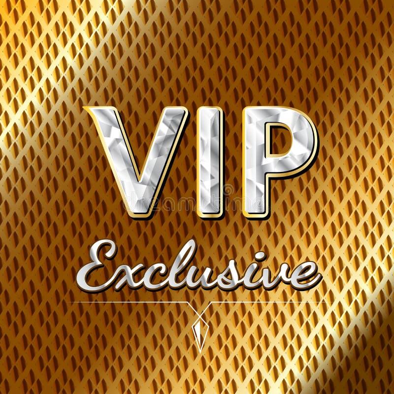 VIP Exclusive Logo Design . Luxury Concept Stock Vector
