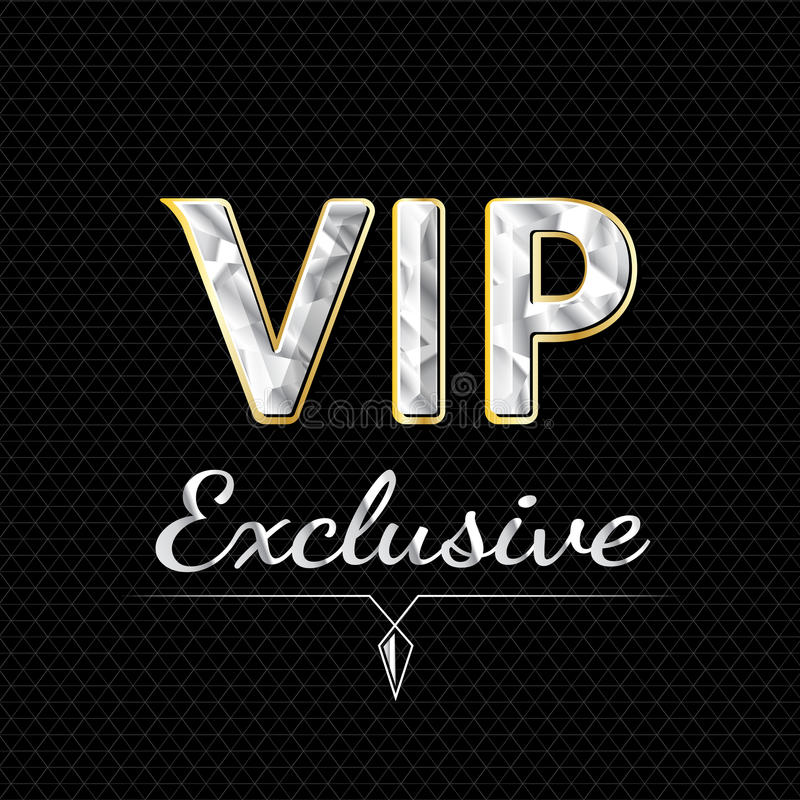 VIP exclusive logo design. luxury concept vector illustration