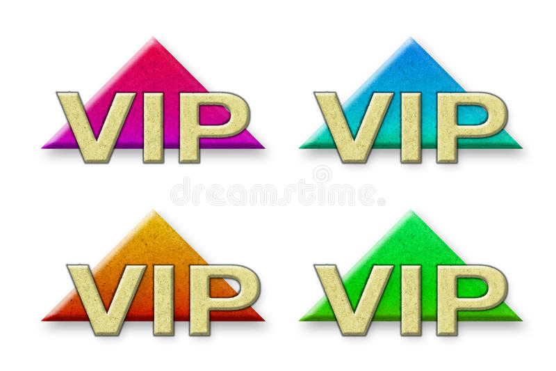 Vip gjorde ââofpapper stock illustrationer