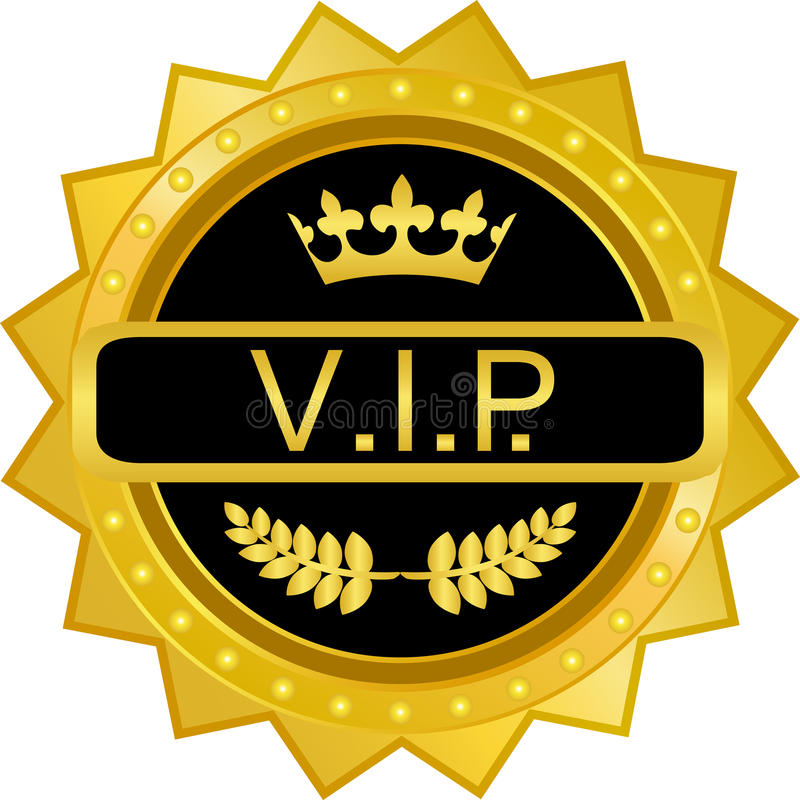 VIP Gold Badge stock vector. Illustration of adhesives ...