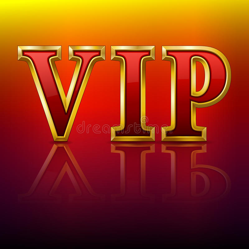 VIP Gold Letters. Stock Image