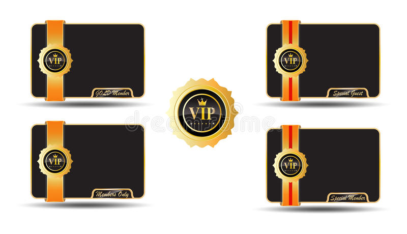 VIP Golden Labels. Vip card golden label, with vip badge vector illustration