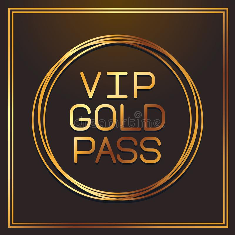 VIP gouden pas royalty-vrije illustratie