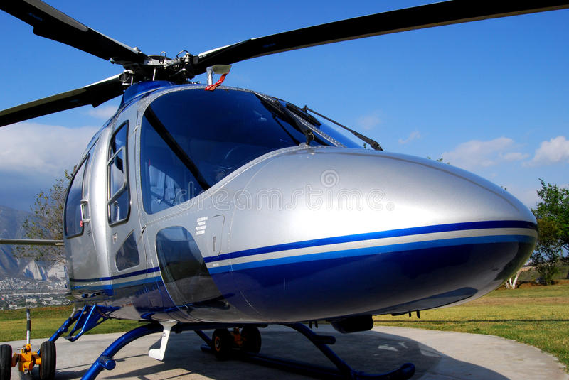 VIP helicopter close up stock image