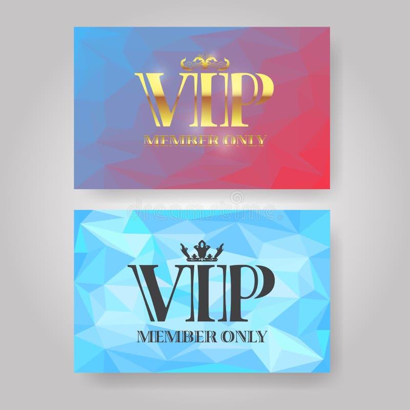 VIP het ontwerpmalplaatje van de lidkaart stock illustratie