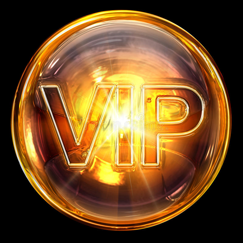 Vip icon fire. royalty free illustration