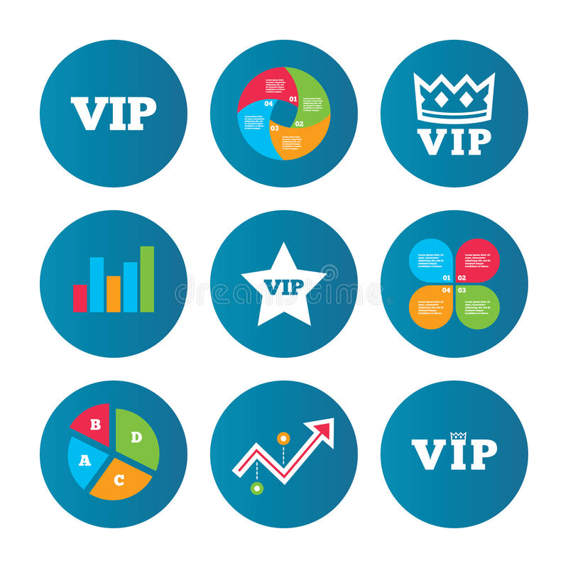 Vip Icons Very Important Person Symbols Stock Vector