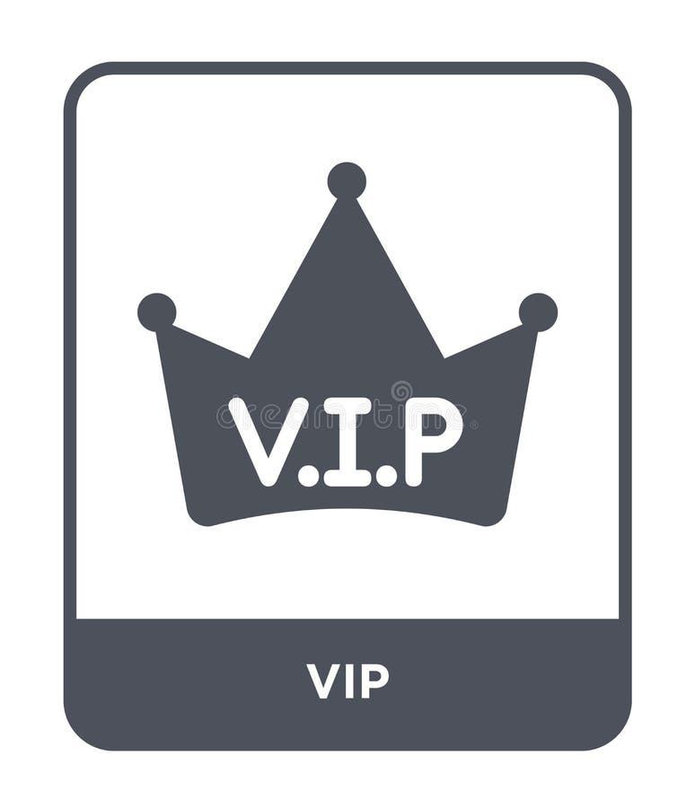 vip-Ikone in der modischen Entwurfsart vip-Ikone lokalisiert auf weißem Hintergrund einfaches und modernes flaches Symbol der vip stock abbildung