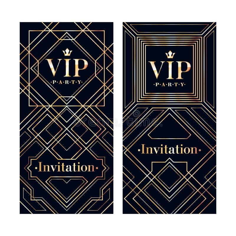 Vip invitation card premium design template stock vector download vip invitation card premium design template stock vector illustration of letter golden spiritdancerdesigns Images