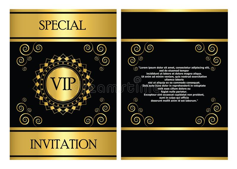 Vip invitation card template stock vector illustration 46087272 download vip invitation card template stock vector illustration 46087272 stopboris Image collections