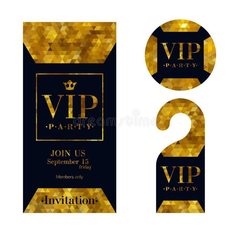 Vip invitation card warning hanger and badge stock vector download vip invitation card warning hanger and badge stock vector illustration of label stopboris Image collections