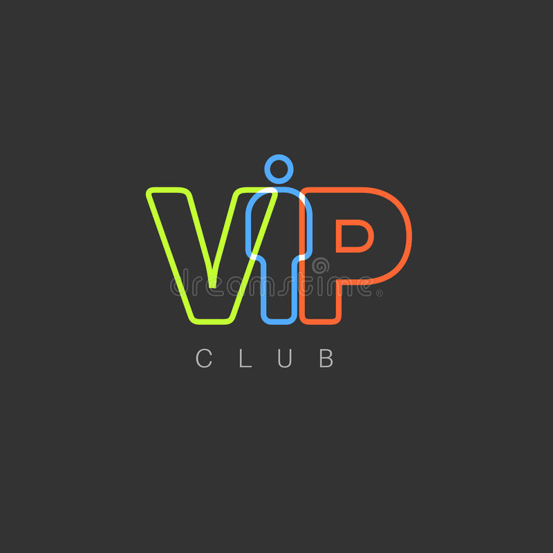 VIP klubu zaproszenia szablon royalty ilustracja
