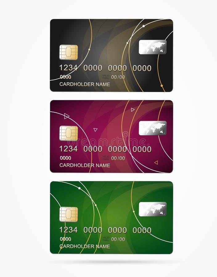 Vip kredyta klingerytu karty Ustawiać wektor ilustracja wektor