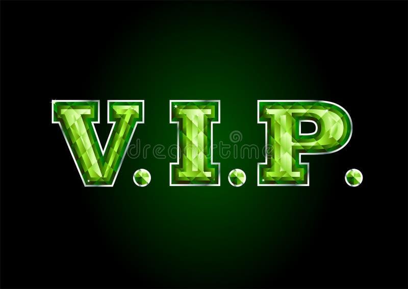 VIP. letter diamond royalty free illustration