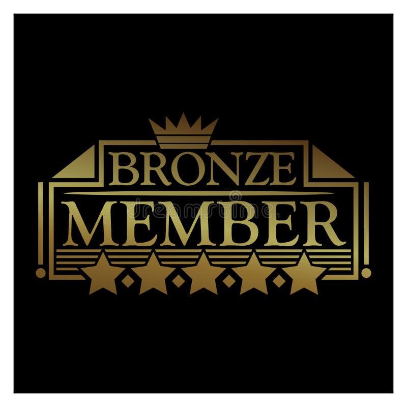 VIP member Icon. Vector Illustration on black background royalty free illustration