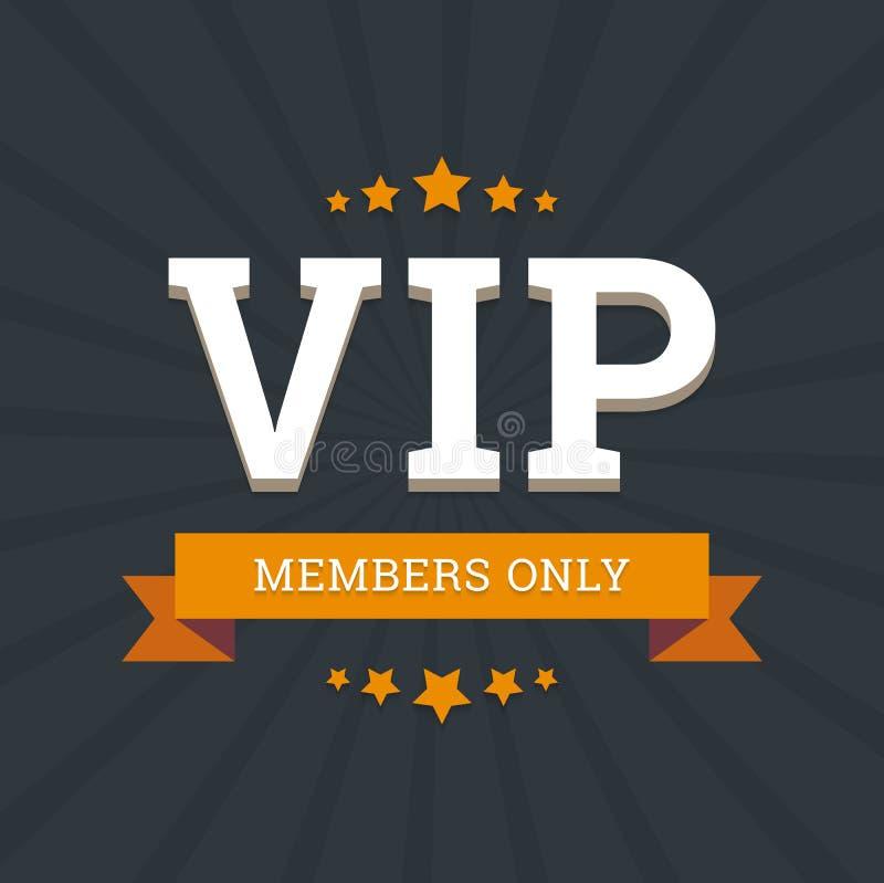 VIP - modello della carta del fondo di vettore dei membri soltanto illustrazione di stock