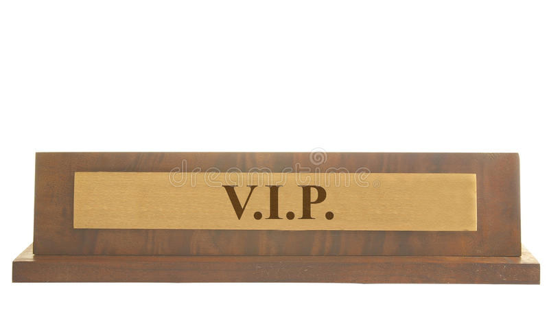 Download VIP name plate stock image. Image of isolation, wood - 21816423