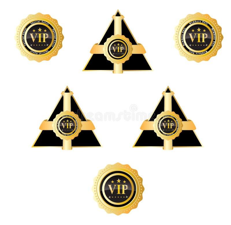 VIP odznaka I znak ilustracja wektor