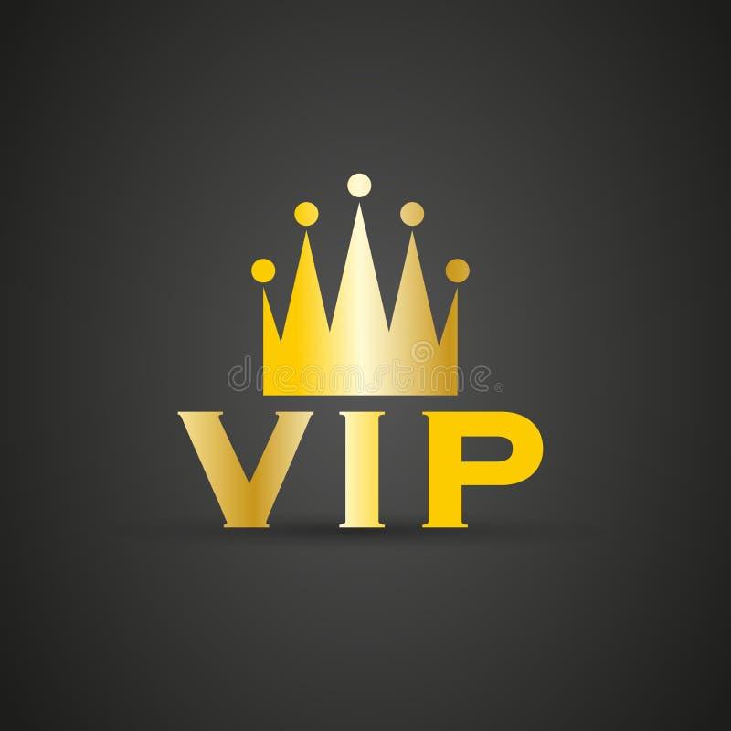 VIP odznaka z koroną ilustracji