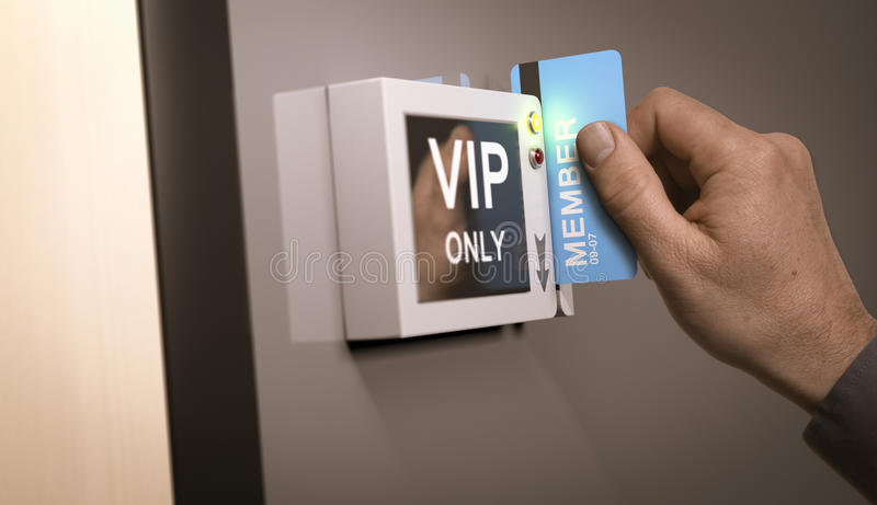 VIP Pass, Exclusive Access vector illustration
