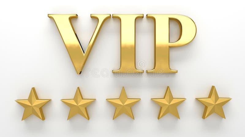 VIP - Persona molto importante - l'oro 3D rende sul backgro della parete royalty illustrazione gratis