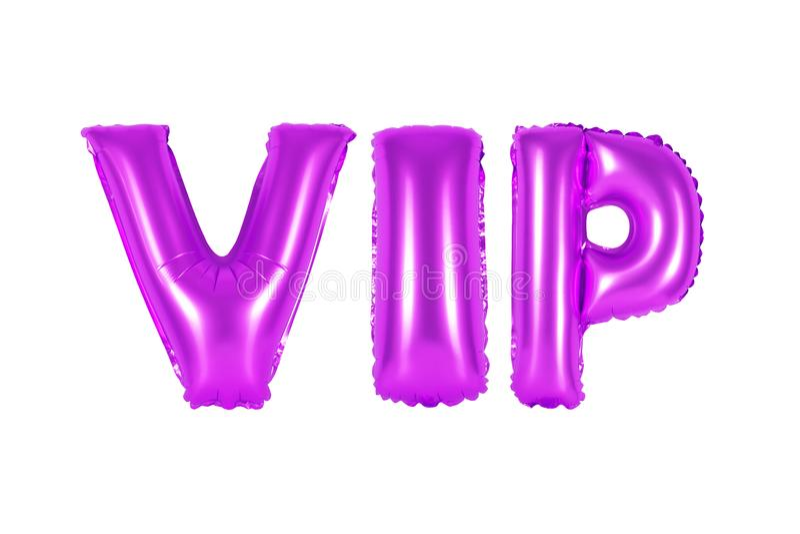 VIP, pessoa muito importante, cor roxa imagens de stock royalty free