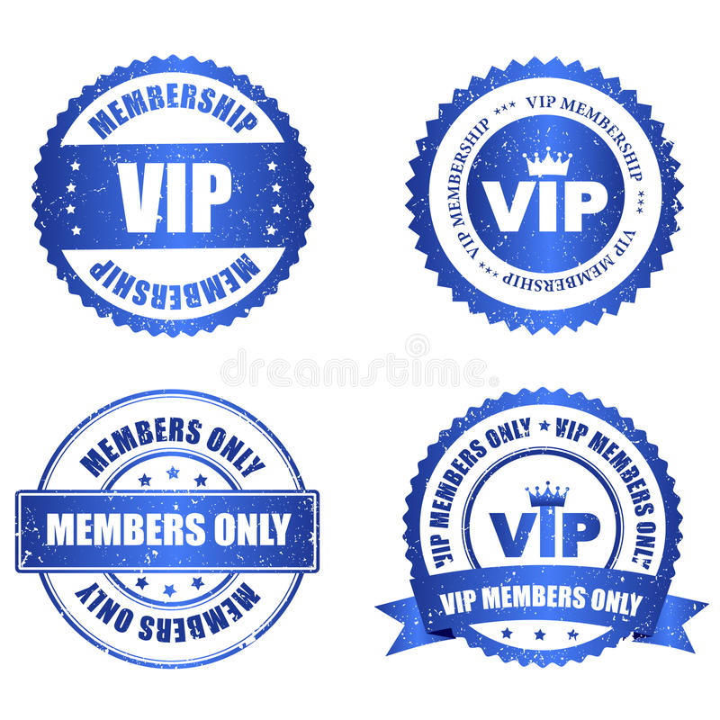 VIP pieczątka royalty ilustracja