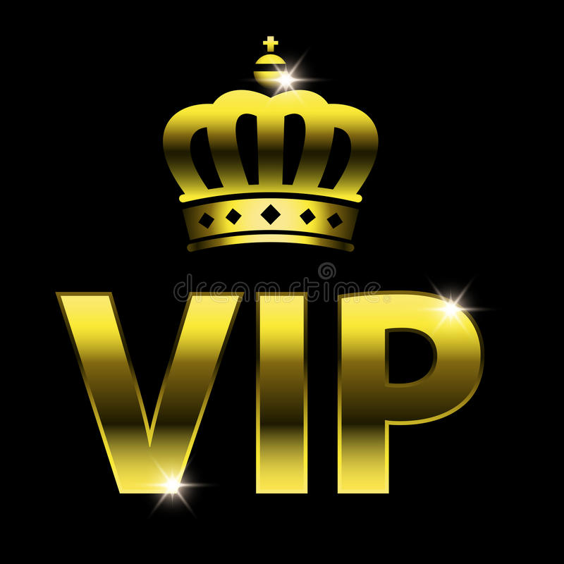 Vip projekt royalty ilustracja