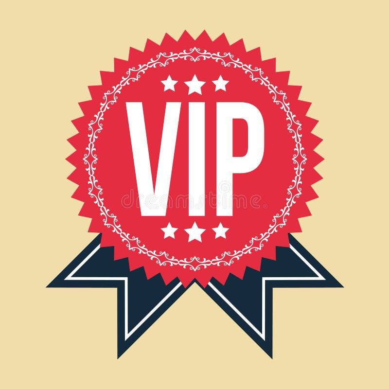 VIP rocznika Klasyczna odznaka ilustracji