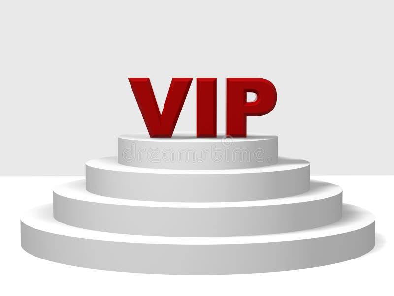 VIP rouge sur un pupitre illustration stock
