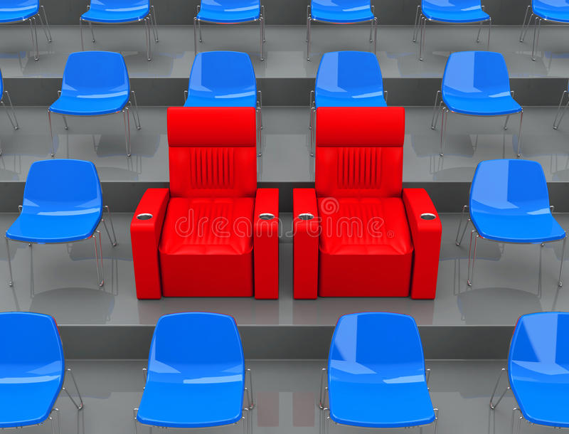 Download The VIP Seats Stock Illustration - Image: 43546162