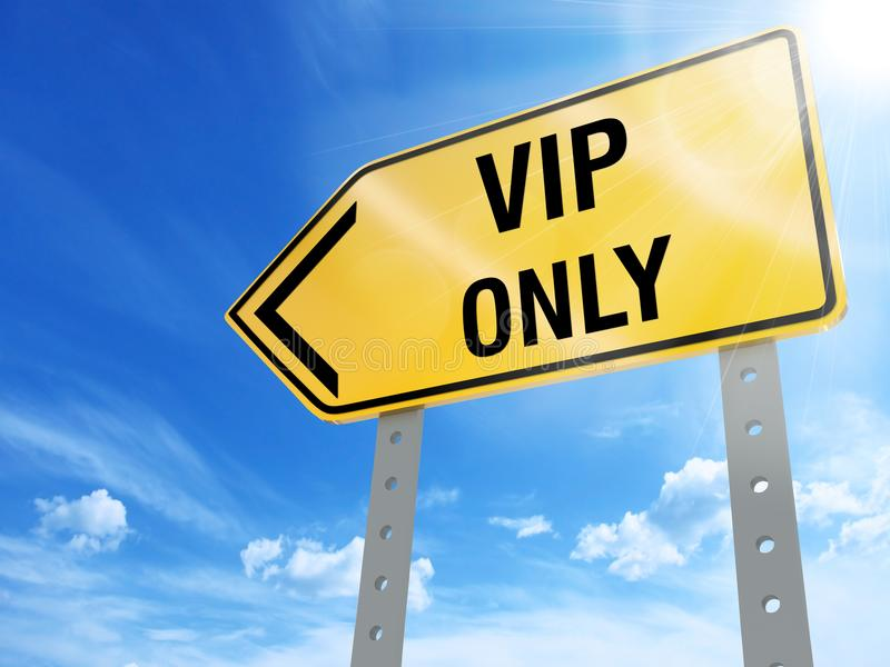 Vip only sign stock illustration