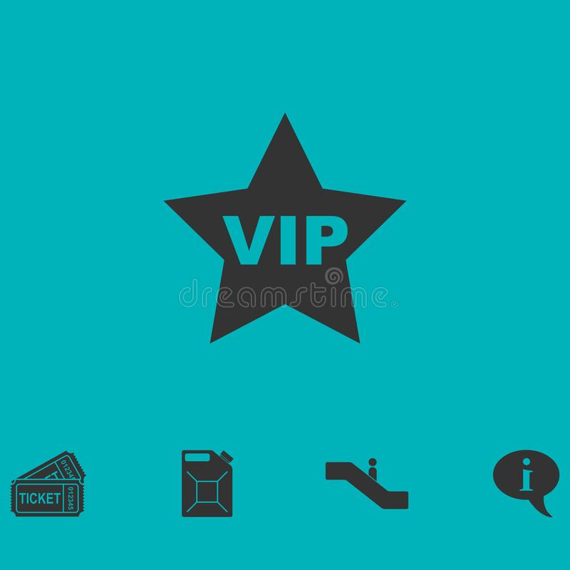 Vip star icon flat stock illustration