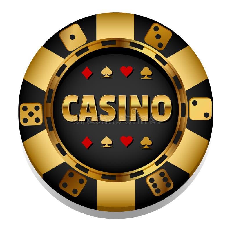 VIp Vector kleurrijke Casinospaander gambling vector illustratie