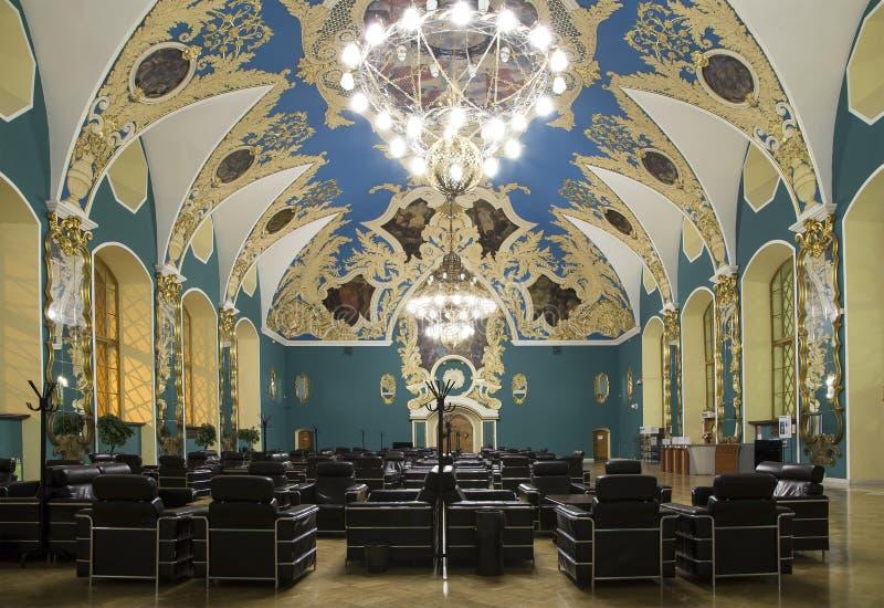 VIP-zaal of een station vokzal Kazansky van Kazansky van het ruimte hoger comfort --is één van negen spoorwegterminals in Moskou, royalty-vrije stock foto
