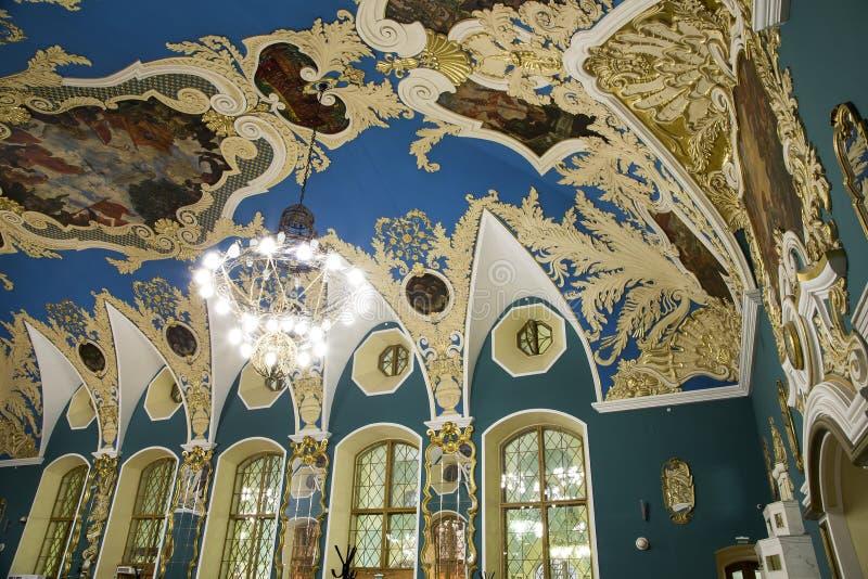 VIP-zaal of een station vokzal Kazansky van Kazansky van het ruimte hoger comfort --is één van negen spoorwegterminals in Moskou, royalty-vrije stock fotografie