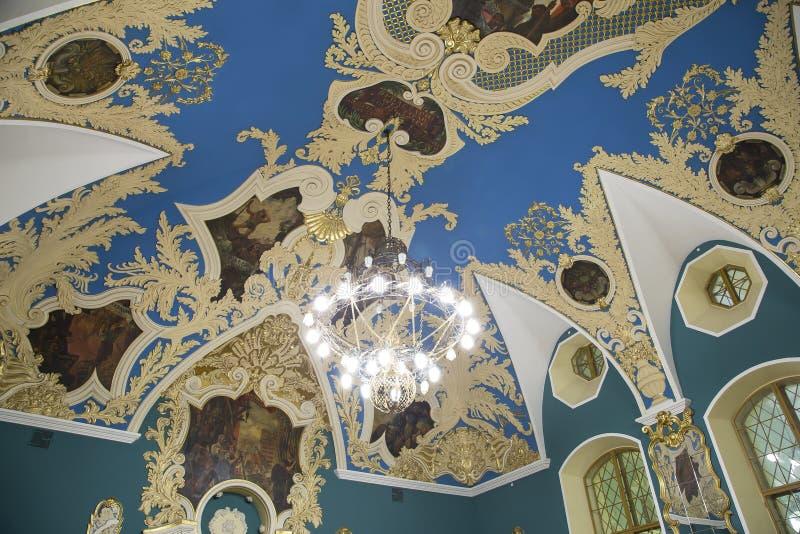 VIP-zaal of een station vokzal Kazansky van Kazansky van het ruimte hoger comfort --is één van negen spoorwegterminals in Moskou, stock fotografie
