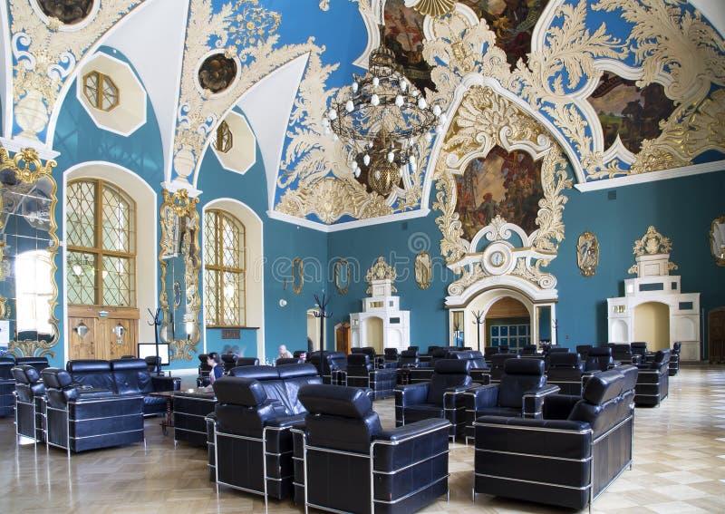 VIP-zaal of een station vokzal Kazansky van Kazansky van het ruimte hoger comfort -- is één van negen spoorwegterminals in Moskou royalty-vrije stock foto's