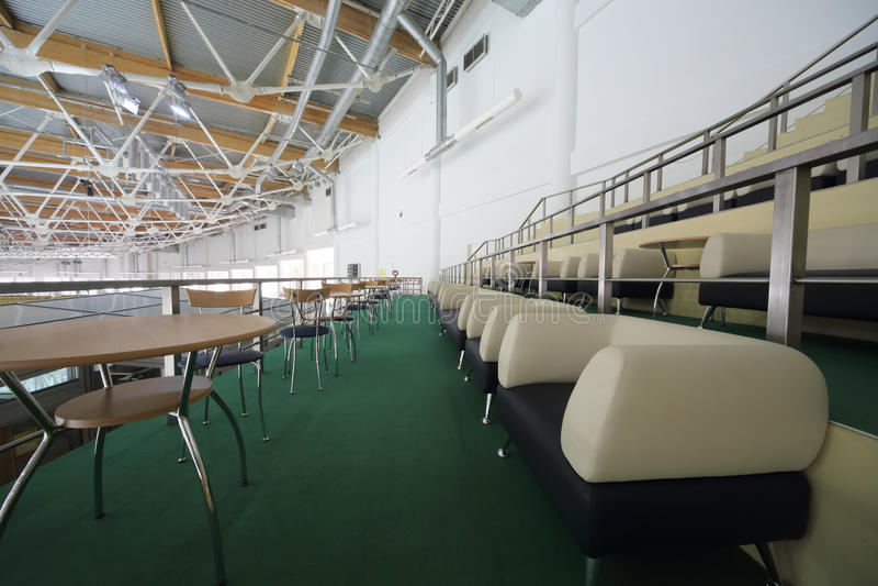 VIP zetels voor toeschouwers in sporten complexe Krylatsky royalty-vrije stock foto