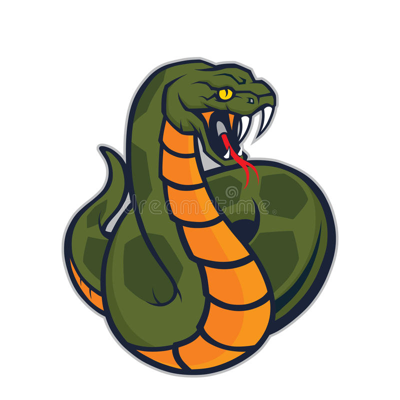 Viper snake mascot stock illustration