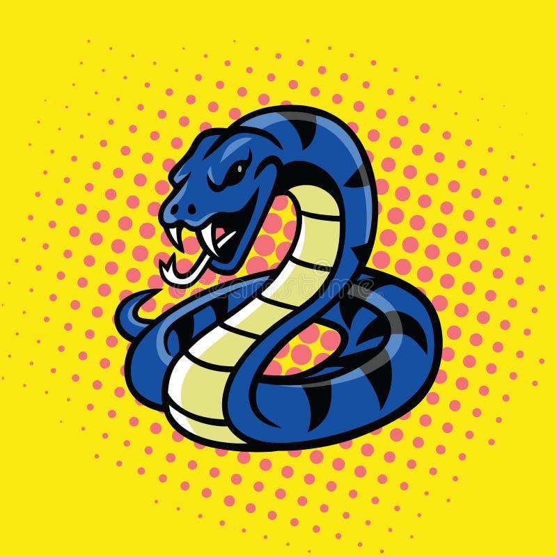 Viper Snake Pop Art Style Vector vector illustration