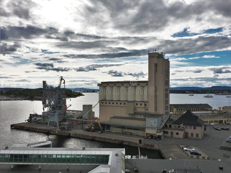 Vippetangen in Oslo, de hoofdstad van Noorwegen royalty-vrije stock afbeeldingen