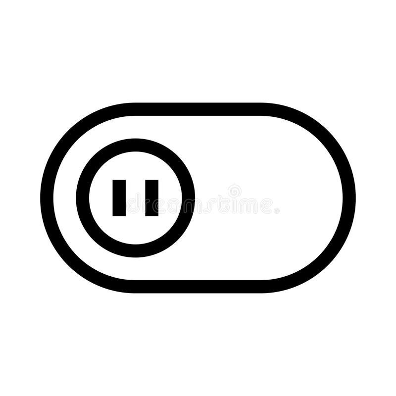 Vipplinje symbol royaltyfri illustrationer