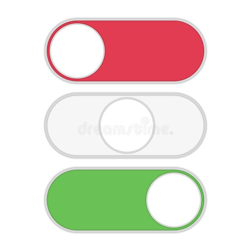 Vippströmbrytaresymbol stock illustrationer
