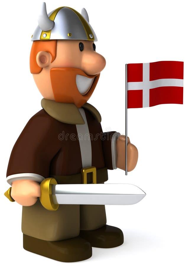 Viquingue dinamarquês ilustração do vetor