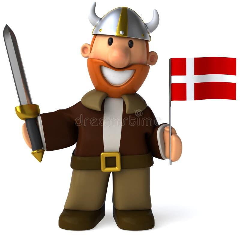 Viquingue dinamarquês ilustração royalty free