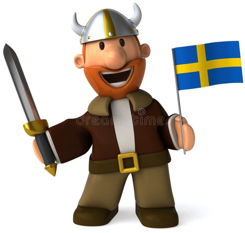 Viquingue sueco ilustração do vetor